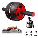 Ρόδα Εκγύμνασης Κοιλιακών - Abs Roller Μαύρο - Κόκκινο