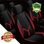 Premium Σετ Universal Ανατομικά Καλύμματα Καθισμάτων Αυτοκινήτου από Αφρώδες Ύφασμα σε Μαύρο/Κόκκινο Χρώμα 7 Τεμάχια