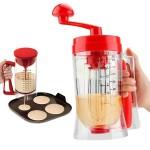 Χειροκίνητη Συσκευή Ιδανική για Pancake, Cupcakes, Muffins, Τηγανίτες & Κρέπες με Αναδευτήρα