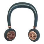 Ανεμιστήρας Λαιμού για το Πρόσωπο σε Σχήμα Ακουστικών Πράσινος - Ασύρματοι Επαναφορτιζόμενοι Ανεμιστήρες Αυχένα - Wireless Bladeless Neck Fans