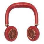 Ανεμιστήρας Λαιμού για το Πρόσωπο σε Σχήμα Ακουστικών Κόκκινος - Ασύρματοι Επαναφορτιζόμενοι Ανεμιστήρες Αυχένα - Wireless Bladeless Neck Fans