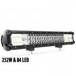 Αδιάβροχος Προβολέας CREE LED - Μπάρα Αυτοκινήτου - Φορτηγού με 84 LED - 252W - Ψυχρό Φως 12V & 24V - OEM