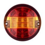Στρογγυλό Πίσω Φανάρι Φορτηγού με 20Led DC 24V Universal Αδιάβροχο IP66 GloboStar® 79927 Κόκκινο/Πορτοκαλί