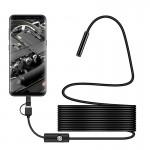 Αδιάβροχη Κάμερα Ενδοσκόπιο HD με USB, Type C & Micro USB 3 Σε 1 Για Android & H/Y με 6 LED 5m Y101