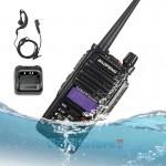 Σετ Αδιάβροχος Ασύρματος Πομποδέκτης Φορητός Baofeng 10W VHF UHF Υψηλής Απόδοσης & Φακός Walkie Talkie με Φορτιστή