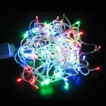 Φώτα led 100 λαμπάκια πολύχρωμα με λευκό καλώδιο