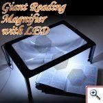 Μεγάλος Hands Free Μεγεθυντικός Φακός Γίγας με Φωτισμό LED για Ανάγνωση και Άλλες Χρήσεις