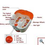 Ηλεκτρικό Ποδόλουτρο Spa με Μασάζ και Υπέρυθρη Θέρμανση SHUNI-SQ-368